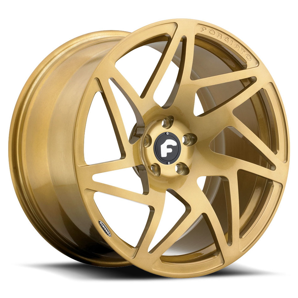 Forgiato Finestro-M Gold Finish Wheels