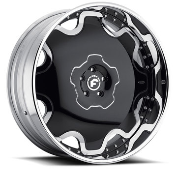 Forgiato Fiore Black and Chrome Center with Chrome Lip Finish Wheels