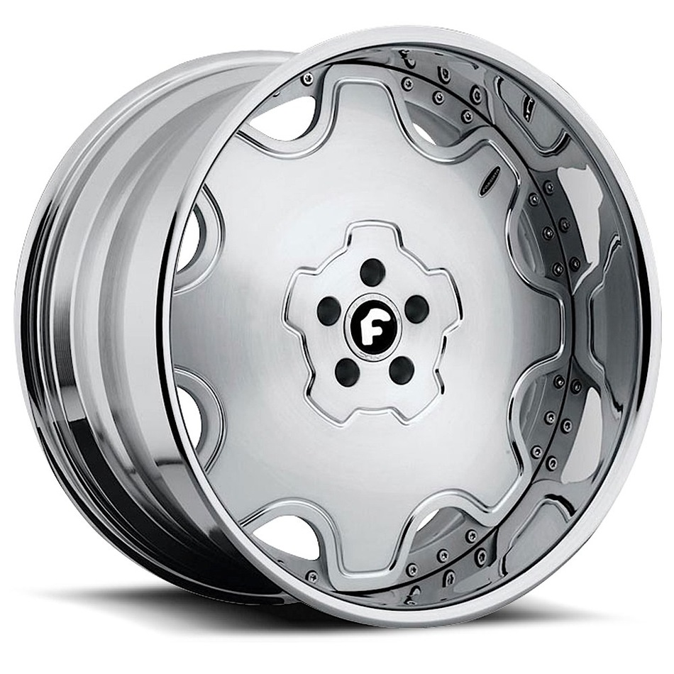 Forgiato Fiore Satin Center with Chrome Lip Finish Wheels