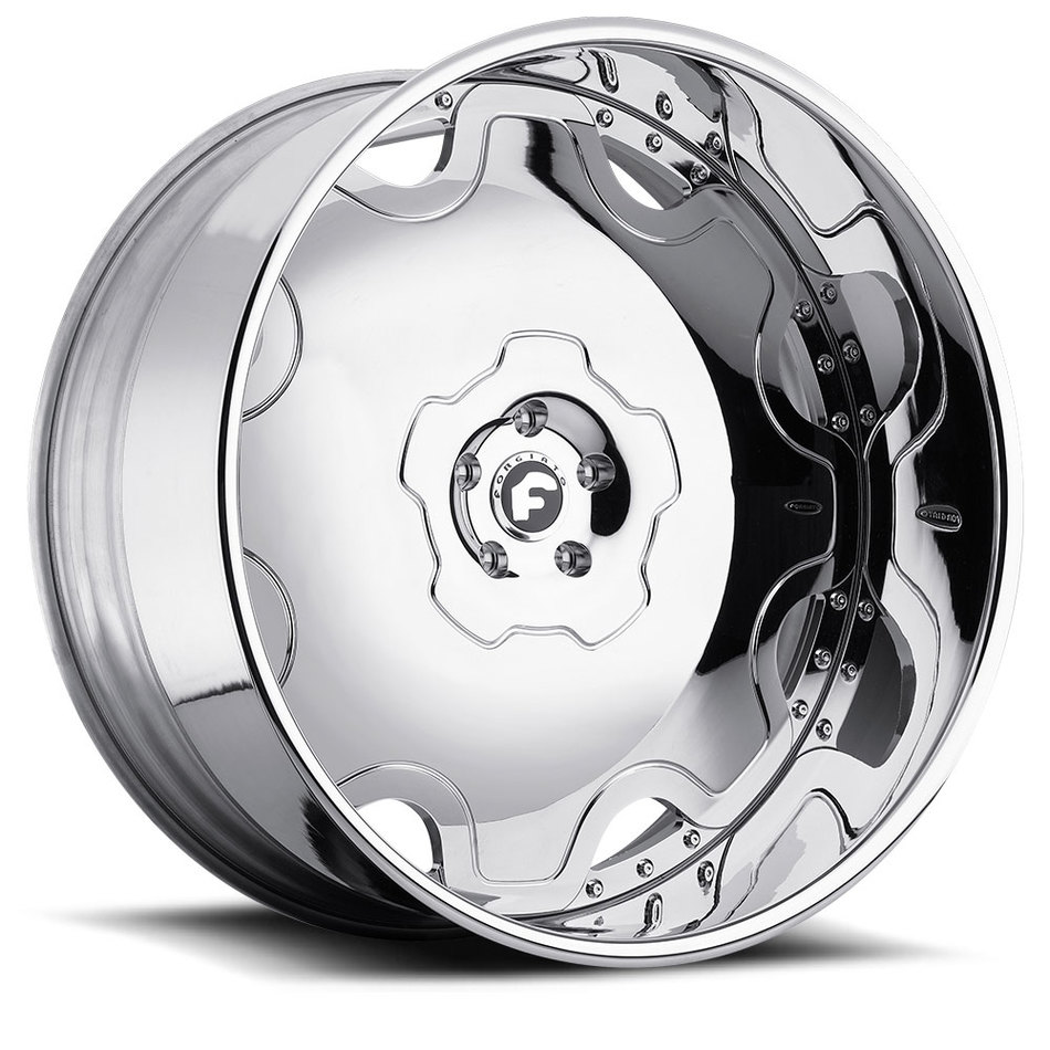 Forgiato Fiore Chrome Center with Chrome Lip Finish Wheels