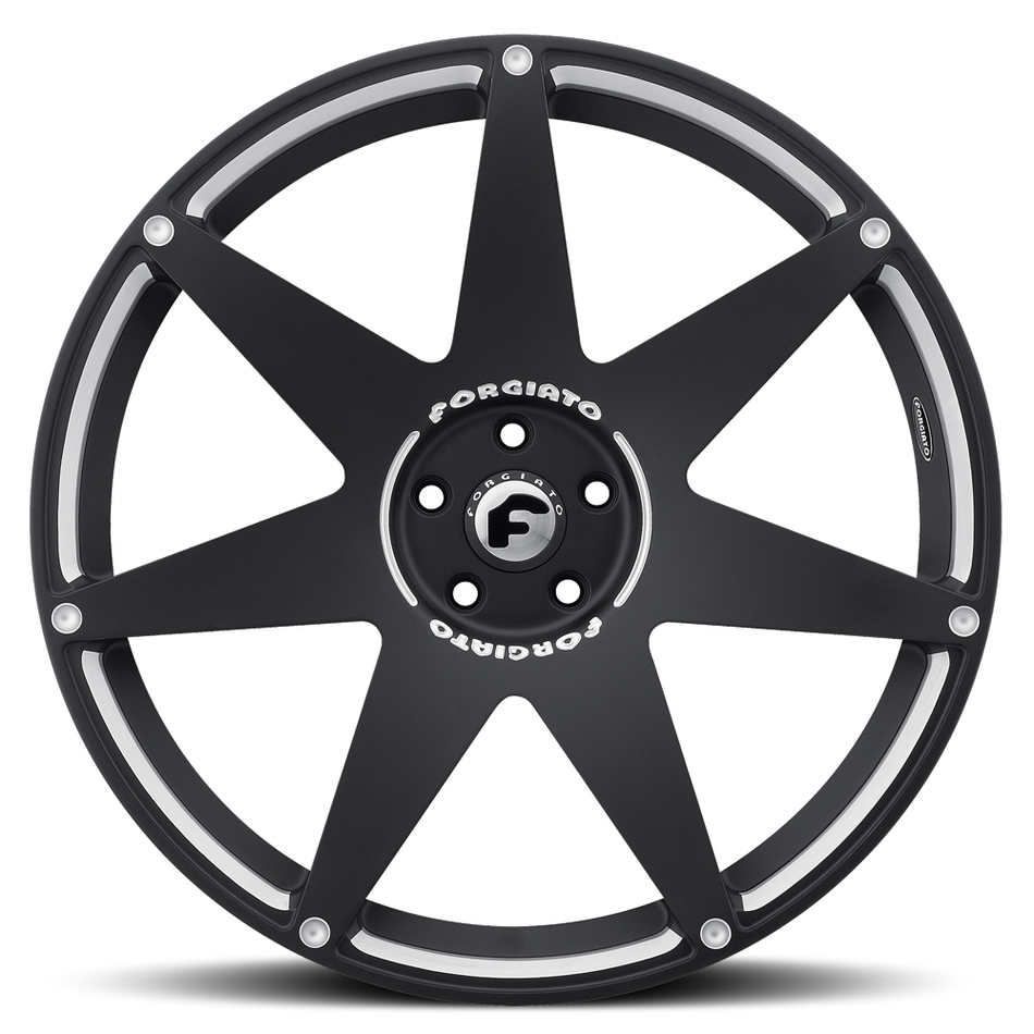 Forgiato Fissato-M Black and White Finish Wheels