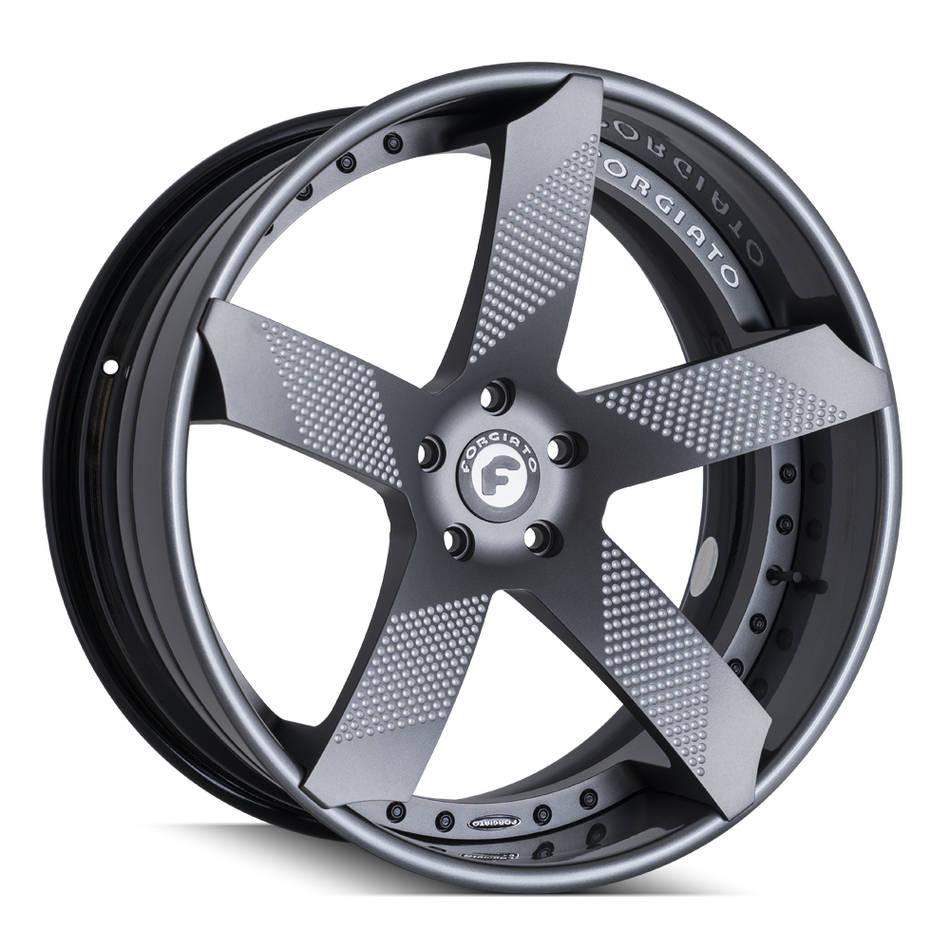 Forgiato Fossete-ECL Black and Matte Grey Finish Wheels