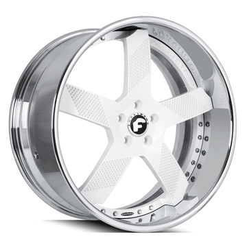 Forgiato Fossette White and Chrome Finish Wheels