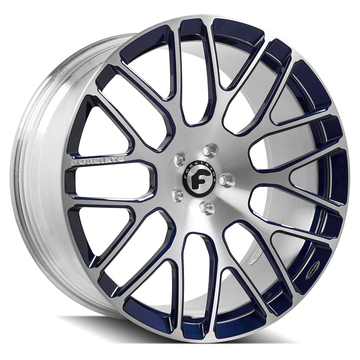 Forgiato Freddo-M Brushed and Blue Finish Wheels