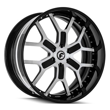 Forgiato GTR-6 Black and Brushed Finish Wheels