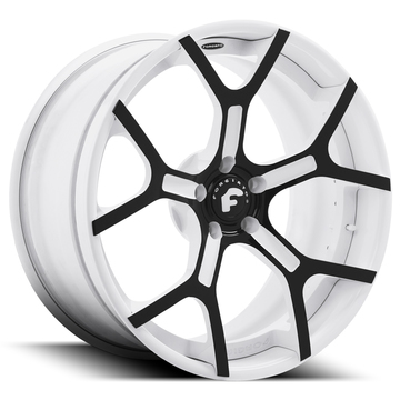 Forgiato GTR-ECL Black and White Center with White Lip Finish Wheels