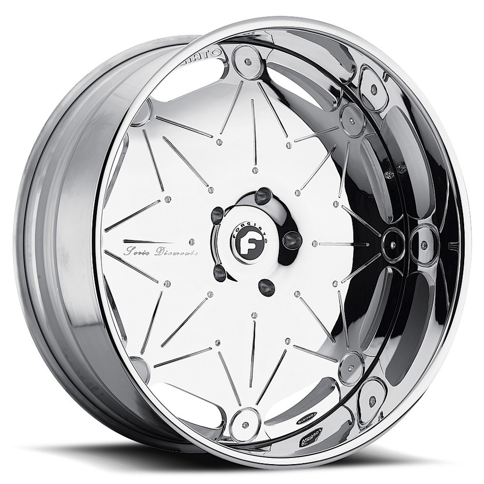 Forgiato Galassia Chrome Finish Wheels
