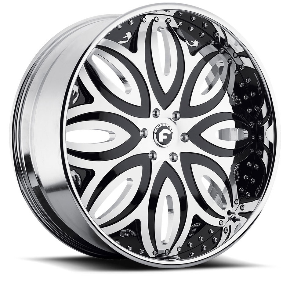 Forgiato Giordano-L Chrome and Black Center with Chrome Lip Finish Wheels