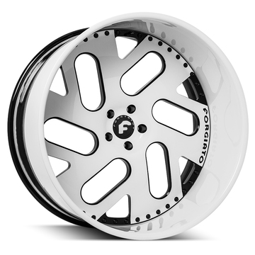 Forgiato Indierto-B White and Black Center with White Lip Finish Wheels