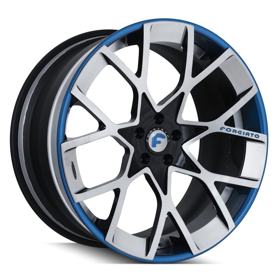Forgiato Insetto-ECL Brushed, Blue and Black Finish Wheels
