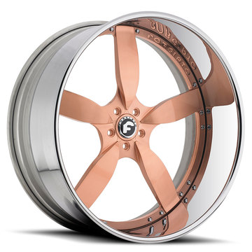 Forgiato Ito Bronze Center with Chrome Lip Finish Wheels