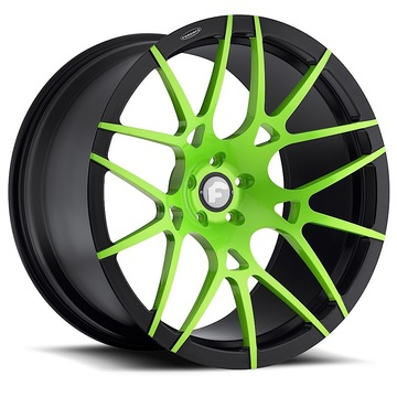 Forgiato Maglia-M Green and Black Finish Wheels
