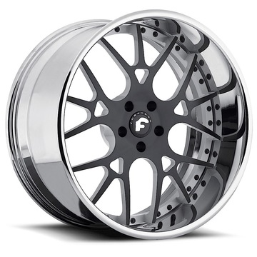 Forgiato Maglia Black and White Center and Chrome Lip Finish Wheels