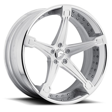 Forgiato Martellato-ECL Satin Center with Chrome Lip Finish Wheels