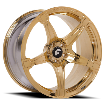 Forgiato Martellato-M Gold Finish Wheels
