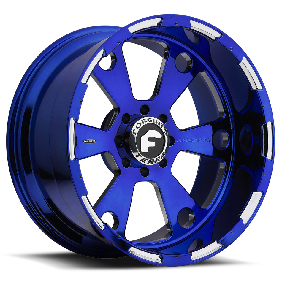 Forgiato Massa-T Blue and Chrome Finish Wheels