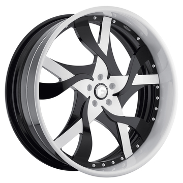 Forgiato Misto Black and White Center and White Lip Finish Wheels