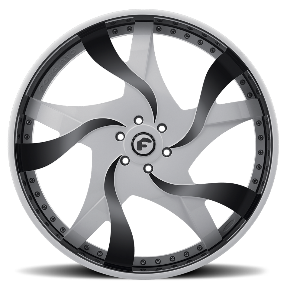 Forgiato Misto Chrome and Gray Center with Black Chrome Lip Finish Wheels
