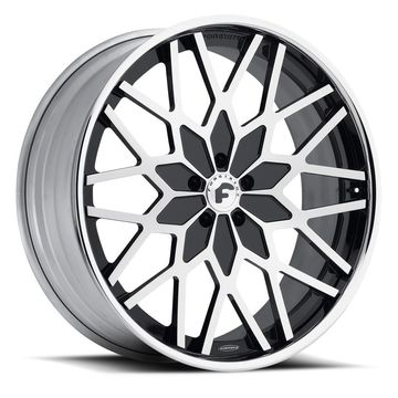 Forgiato Niddo-C Brushed and Black Center with Chrome Lip Finish Wheels