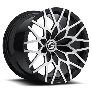 Forgiato Niddo-M Satin and Black Finish Wheels