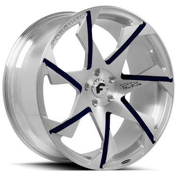 Forgiato Oltore-M Satin and Blue Finish Wheels