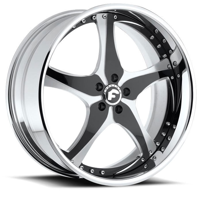 Forgiato Opposti Satin and Black Center with Chrome Lip Finish Wheels
