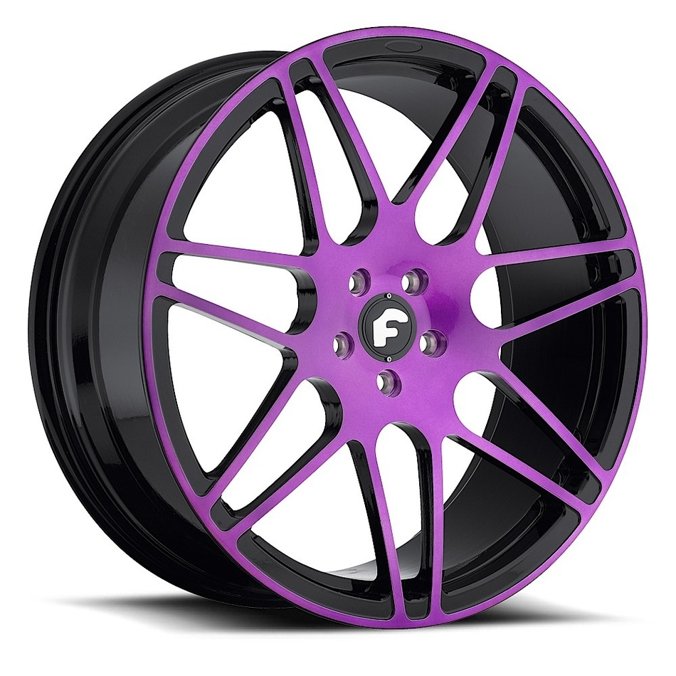 Forgiato Pinzette-M Purple and Black Finish Wheels