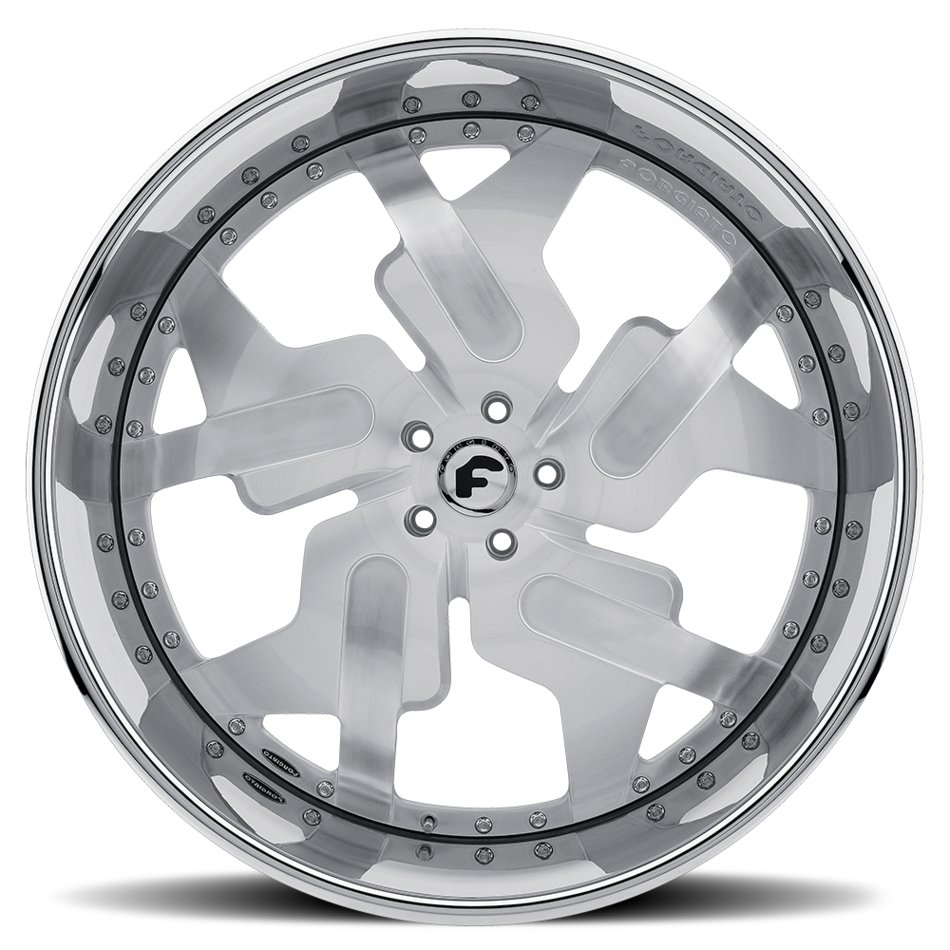 Forgiato Prometeo-L Satin Center with Chrome Lip Finish Wheels