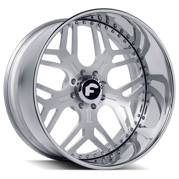 Forgiato Quadrato-D Brushed Face and Chrome Lip Finish Wheels