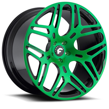 Forgiato Quadrato-M Green and Black Finish Wheels