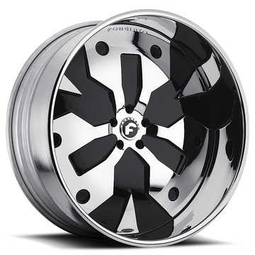 Forgiato Razo-L Chrome and Black Center with Chrome Lip Finish Wheels