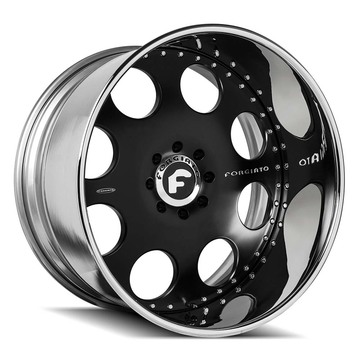 Forgiato Rivoto Black and Chrome Finish Wheels
