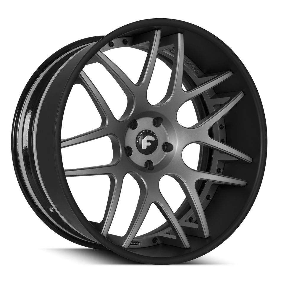 Forgiato S202 Matte Grey with Black Lip Finish Wheels