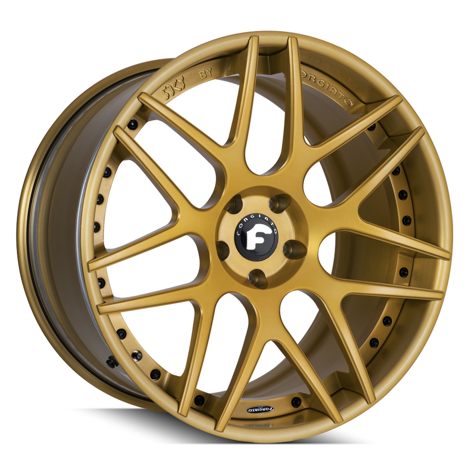 Forgiato S202 Gold Finish Wheels
