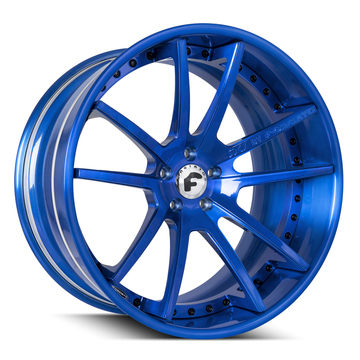 Forgiato S204 Brushed Blue Finish Wheels