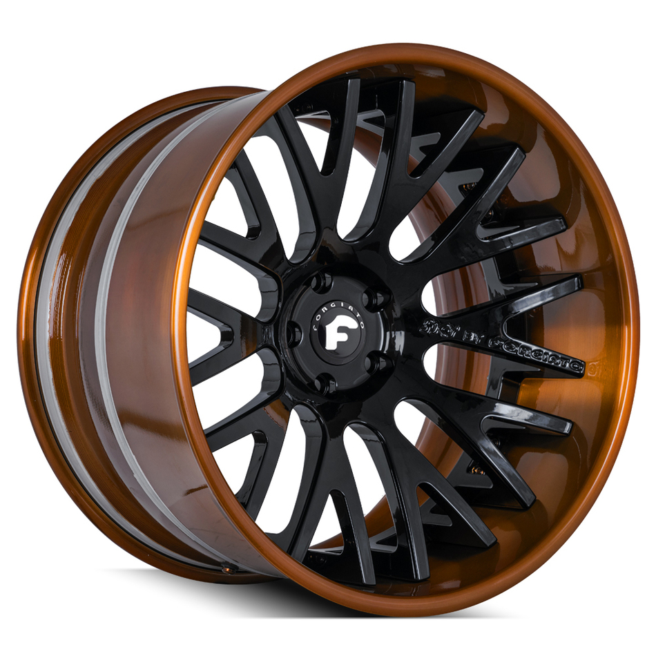 Forgiato S205 Black and Brown Finish Wheels