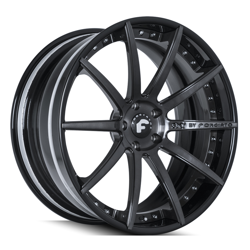 Forgiato S206 Black Finish Wheels