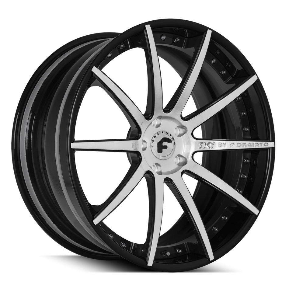 Forgiato S206 Brushed and Black Finish Wheels