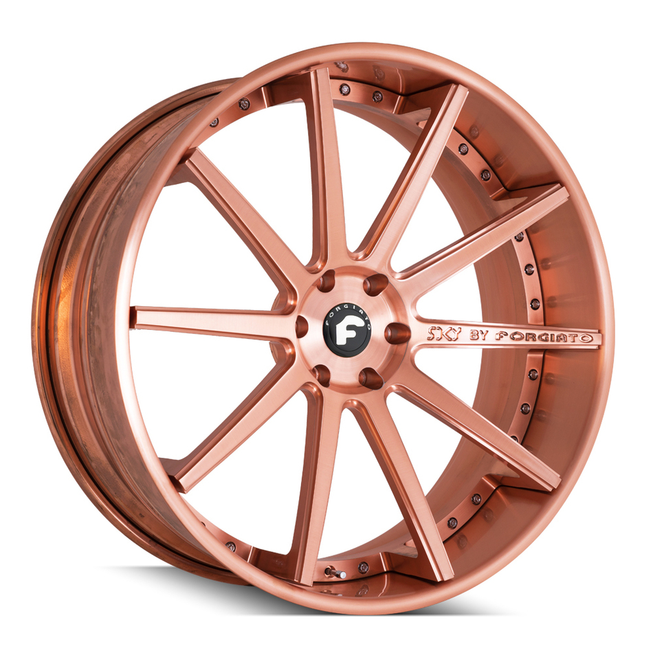 Forgiato S206 Gold Finish Wheels