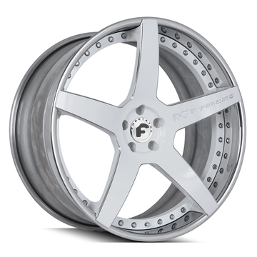 Forgiato S208 White and Chrome Finish Wheels