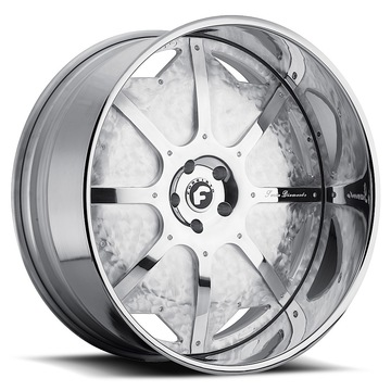 Forgiato Scudo Hammerd and Satin Center with Chrome Lip Finish Wheels