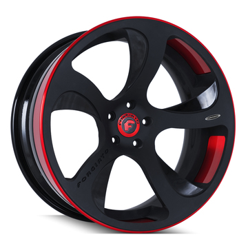 Forgiato Scythe-ECL Black and Red Finish Wheels