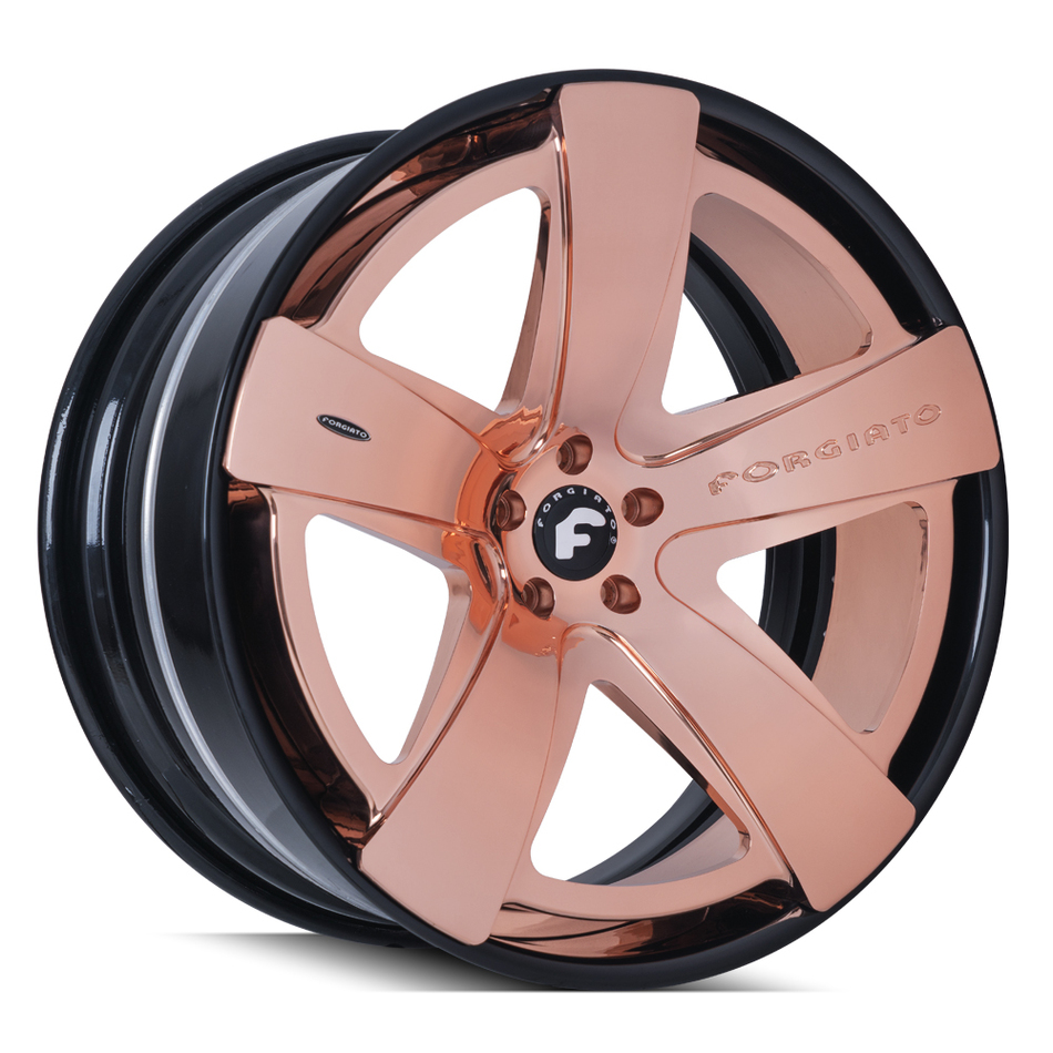 Forgiato Simplice-ECL Rose Gold and Black Finish Wheels