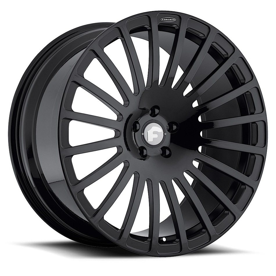 Forgiato Singolo-M Black Finish Wheels