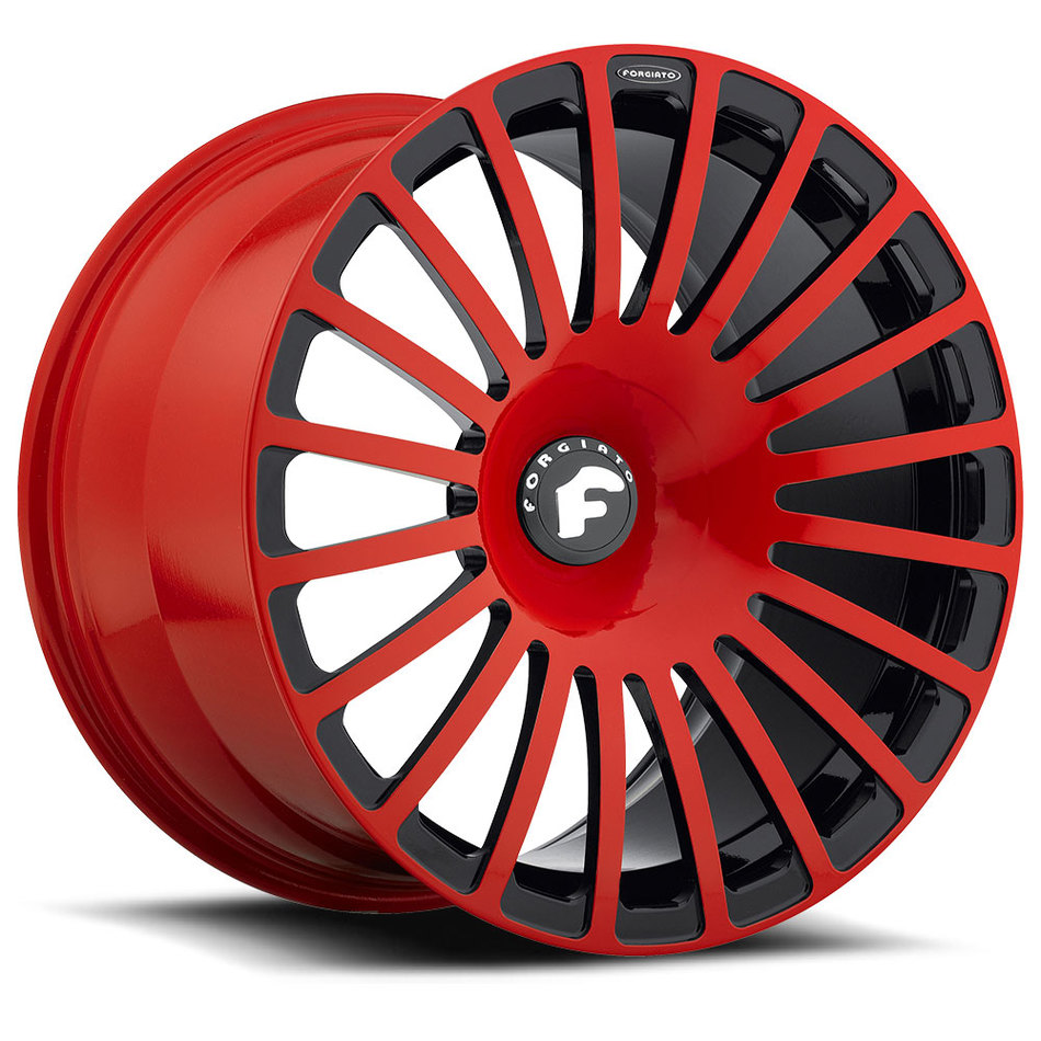 Forgiato Singolo-M Red and Black Finish Wheels