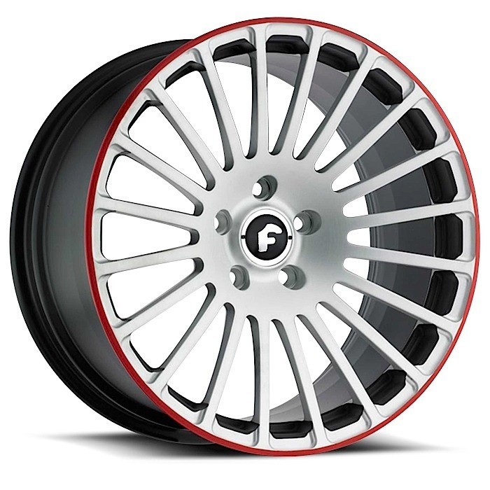 Forgiato Singolo-M Satin and Red Finish Wheels