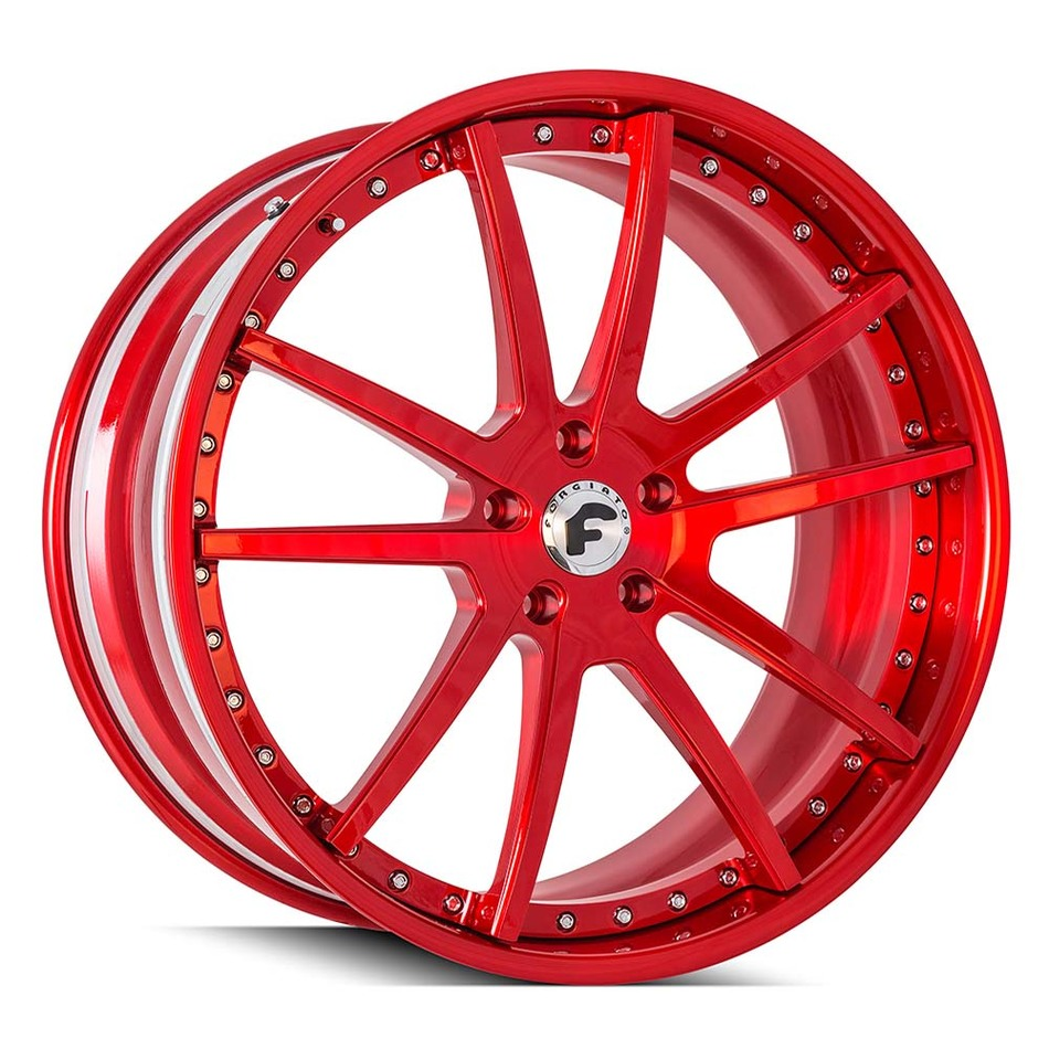 Forgiato Sky 204 Candy Red Finish Wheels