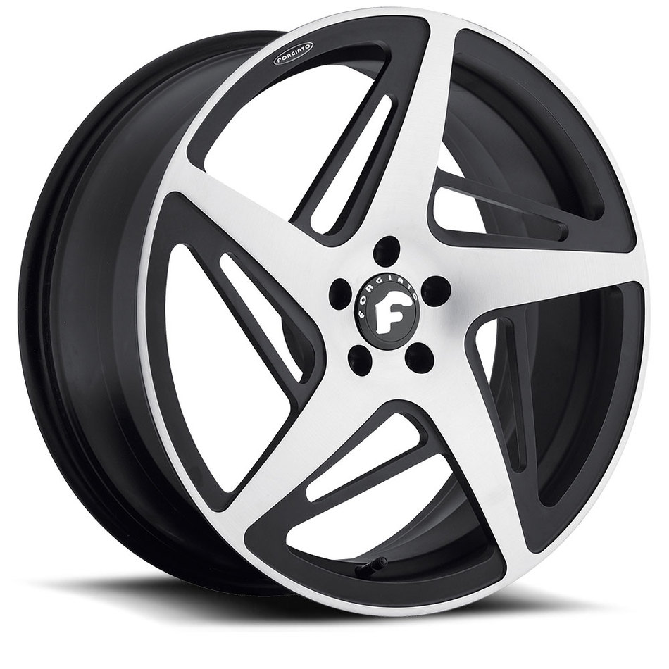 Forgiato Spacco-M Satin and Black Finish Wheels