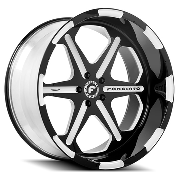Forgiato Sporcizia-T Satin and White Finish Wheels