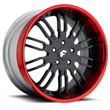 Forgiato Taglio Black Center with Red Lip Finish Wheels